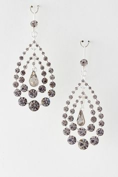 Crystal Dot Chandelier Earrings