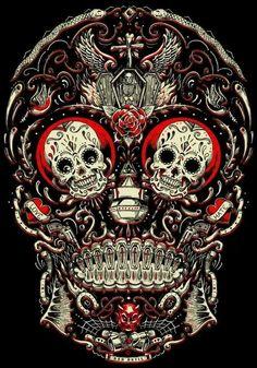 The unique design of colored skull bottles - Skullspiration.com - skull designs, art, fashion and more