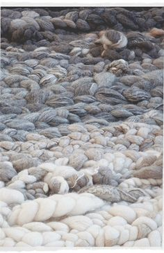 Wonderfull oversized wool rugs by Dana Barnes Studio