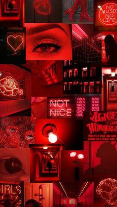 Black Wallpaper Iphone Dark, Iphone Wallpaper Themes, Red And Black Wallpaper, Neon Wallpaper, Iphone Wallpaper Tumblr Aesthetic, Aesthetic Pastel Wallpaper, Aesthetic Wallpapers, Red And Black Background, Wallpaper Lockscreen