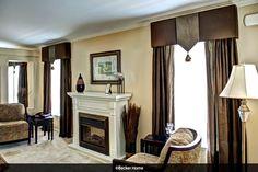 Pelmet living room curtains