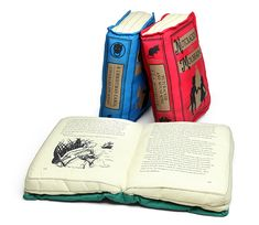 ThinkGeek :: Olde Book Pillow Holiday Classics. A Christmas Carol. The Nutcracker, and Peter Pan