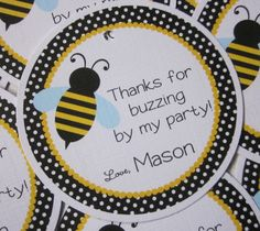 Favor Tags  Bumble Bee   Coordinating Party Decor by ciaobambino, $6.00