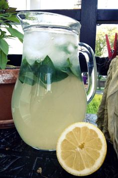 Podróże na języku: Lemoniada z miętą Smoothie Drinks, Smoothies, Cocktail Drinks, Cocktails, Limoncello, Cookie Desserts, Food And Drink, Tableware, Health