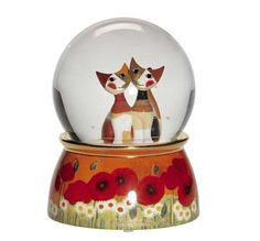 Snowglobes with Music- Loving Kitties