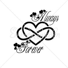 Always Forever infinity sign Heart svg Infinity sign svg. Love Symbol Tattoos, Cute Tattoos On Wrist, Mom Tattoos, Couple Tattoos, Body Art Tattoos, Tattoo Drawings, Small Tattoos, Tattoos For Women, Tatoos
