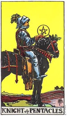 Knight of Pentacles in Raider Waite Tarot Deck: Meaning, Reversed , Yes and No, Love Life, Astrology Significance Tarot Cards Online, Owl Wings, Rider Waite Tarot, Free Tarot, Tarot Card Meanings, Crows Ravens, Tarot Spreads, Super Moon, Tarot Decks