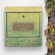 DEIN Wunschtext auf Briefkasten Vintage Messing von banjado via dawanda.com