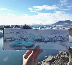Profesor de arte Pinturas Acuarela paisajes Uso de agua que se encuentra en sus destinos - Mi Met Moderno