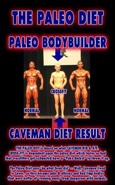 Paleo Body Builder! - (See Pic) - The results of Crossfit & Paleo on muscle.    Crossfit advocates The Paleo Diet. Cross Fit and The Paleo Diet say if a Caveman didn't do it, nor should you! Cavemen didn't lift weights, or kettlebels, didn't do burpees #Fitness Guru like me!