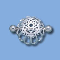 Silver nipple shield piercing jewelry - dome - Whim Body Jewelry - I just like the way the wire is formed into a dome shape. Ear Jewelry, Body Jewelry, Jewelry Art, Jewelry Accessories, Jewellery, Body Peircings, Piercings, Nipple Rings, Body Electric