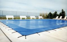 How to Install a Winter Pool Cover #stepbystep