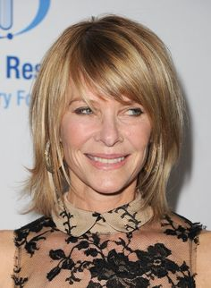 medium layered hairstyles with bangs | Kate Capshaw, wife of Steven Spielberg