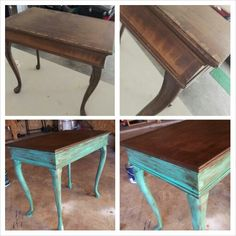 furniture redo. Small table makeover. Diy