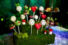 Alice in Wonderland themed cake pops. Chocolate and Vanilla cake pops.