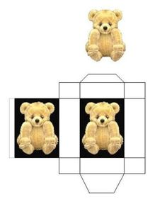 Miniature Printables - Teddy Bear Gift and Box (V)