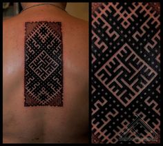 A beautiful Latvian tattoo