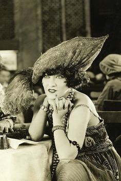 Ms. Fashion herself, the Divine Gloria Swanson. Check her style out in the film, Sunset Boulevard, and you'll see what I mean!