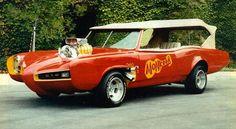 The Monkey Mobile (a modified 1966 Pontiac GTO convertible)