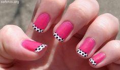 World Of Stylish Girls:. Decorated nails, Yellow and Rose: *