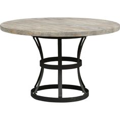 Showcasing an openwork metal base and a round top, this industrial-style table is perfect for gathering the family for a weeknight meal or Sunday brunch.  ...