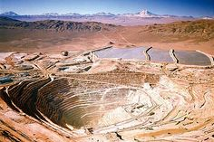 The BHP Billiton Escondida copper mine Nasty People, Joint Venture, Chile, Rio, Bucket, Copper, Chili Powder, Chilis, Buckets