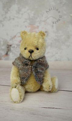 Let Me Be Your Teddy Bear 5 1/4 Miniature Mohair by aerlinnbears