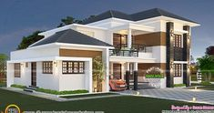 Dream home plans photos indian modern house floor plans fresh elegant south villa com small modern New Modern House, Modern Small House Design, Modern House Floor Plans, Dream House Plans, Architectural Design House Plans, Modern Architecture House, Amazing Architecture, Kerala Traditional House, Kerala House Design