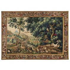 Circa 1690 Beauvais Tapestry  'La Menagerie de Versailles' Attributed to Firens   From a unique collection of antique and modern tapestries at https://www.1stdibs.com/furniture/wall-decorations/tapestry/