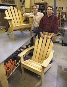 Norm Abrams Adirondack Chair Digital Download - This is the exact pattern Jeff S. used to build his chairs and they are so comfortable! They would be great for the hangar...