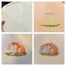 Afbeeldingsresultaat voor guess how much i love you cross stitch