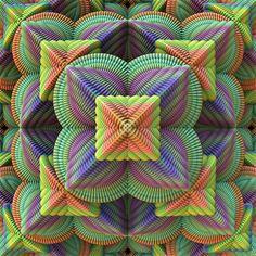 Pattern Pyramid Digital Art