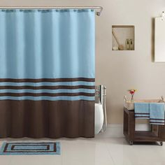 Hotel Collection Shower Curtain, BathTowel, Rug Set- kids bathroom