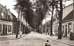 127 Korvelseweg 1900. Links de Diepenstraat.