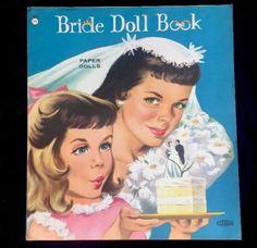 1960-039-s-Original-Bride-Doll-Book-Wedding-Paper-Dolls-Uncut