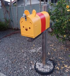 Our DIY Pooh Tsum Tsum mailbox
