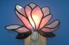 """Stained Glass Night Light 6"""" x 5"""""""