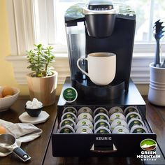 FALLing back into routine this season means getting organized, too! Check out our Keurig storage drawer for all your favorite K-Cup pods and spice up your coffee station!