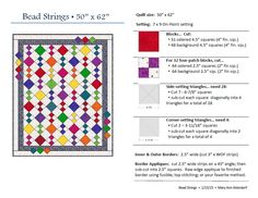 """""""Bead Strings"""" quilt pattern for St Vincent Passage Quilts (Feb 2015)"""