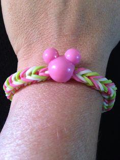 Mickey rainbow loom bracelet.