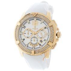 Ρολόι Vogue Crystal Lady Gold Case   White Rubber Strap dd14fe9886b