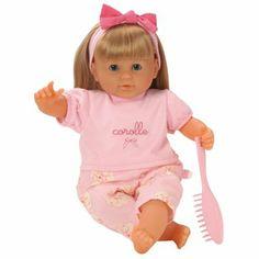 Prachtige babypop met zachte blonde haren van het merk Corolle. De pop heeft ogen die sluiten als de pop moet slapen. Deze pop kan ook rechtop zitten. Ook heeft ze haar eigen borstel. Als ze vies wordt geeft dat niet want ze wasbaar met de hand. Nu draagt ze een zomers pakje, maar we hebben ook losse kledingsetjes verkrijgbaar voor de koudere dagen  http://www.benjaminbengel.com/knuffelen/1101271-blonde-pop-met-haar-36cm-746775022075.html