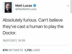Thank you Nardole, you are absolutely right, this is unrealistic casting at its finest--Doctor Who