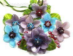 JOPANDA lampwork Beads handmade SRA   Hibiscus Colorful Set (23)   eBay