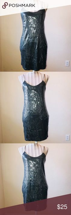 "NWT ZARA sequin sexy mini dress SMALL Brand new with tags Sequin Sexy Mini Dress  ZARA  W&B COLLECTION.  SIZE: Small  Sexy back !!  Approx measurements: Bust: 30""/ Length;: 23"") Zara Dresses Mini"