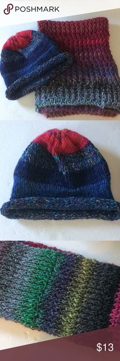 """Anthropologie Hat & Scarf Bought in 2014   No tags   Hand Knit   Length: 49"""" Anthropologie Accessories"""
