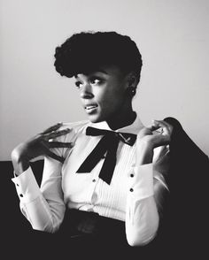 janelle monae..her b&w style complements her outrageously colorful personality and music