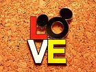Disney Pin Mickey Mouse Head Icon and LOVE #EasyNip