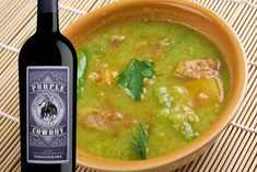 Green Chile stew will warm you up and keep you cheering until the final touchdowns this weekned. Pair it with a full-bodied, fruit-forward wine like Purple Cowboy Tenacious Red for a truly winning matchup. Pork Green Chile, Wings In The Oven, Italian Beef Sandwiches, Spicy Wings, Mexican Food Recipes, Ethnic Recipes, Cooking Wine, Game Day Food, Tasty Dishes