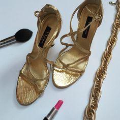 Gold Nina Sandals